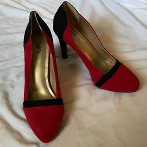 "NWOT Cato Red And Black 4"" Heels Size 10W"